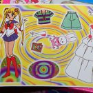 Sailor Moon paper doll sheet vintage white princess dress Usagi