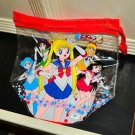 Sailor Moon S Japanese tote bag clear plastic purse Asahi Japan pool shower