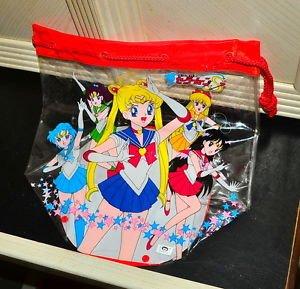 Sailor Moon S Japanese tote bag clear plastic purse Asahi Japan pool shower
