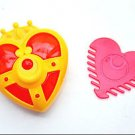 Sailor Moon transformation heart brooch compact comb set Japanese