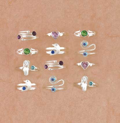 CRYSTAL TOE RINGS