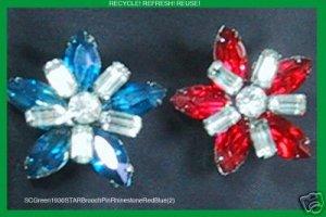 SuomynonaCouture Recycled Vintage Rhinestone Brooch Pin