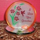 I Love You Grandma Plaque/Candleholder