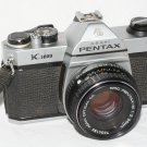 Pentax K1000 35mm film SLR camera with Pentax-M 50 mm f/2 lens