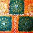 ABSTRACT- FOLK ART STYLE-RANGOLI -UNIQUE