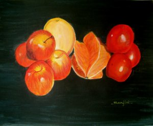 PASSION FOR FRUITS- Original abstract fruits painting