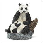 Panda Bear and Cub Figurine