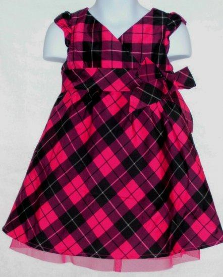 Old Navy Pink Black Plaid Dress ~ Size 4t ~ NWT