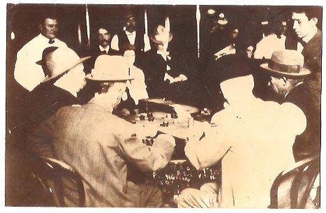 Real Photo of open gambling in Reno, Nevada, 1910