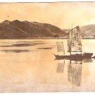 Real Photo-Boat on river in the Kiangsu Province, China, 1946