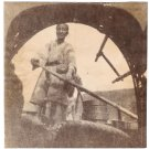 Real Photo of a Woman Rowing a Chinese Boat in 1905