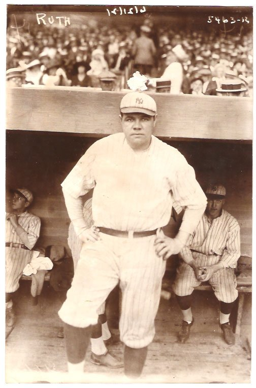 Real Photo of Babe Ruth, New York American League Baseball