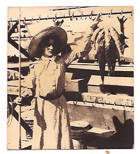 Real Photo of the Fishermaiden and her catch, Catalina Island California, 1906