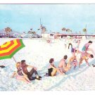 "Vintage Postcard of ""Beach Scene"" on Panama City Beach, Florida - mid 1950's"