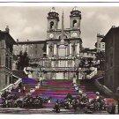 """Real Photo Postcard (RPPC) of """"Trinita dei Monti"""" in Rome, Italy, 1940's"""