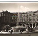 "Real Photo Postcard (RPPC) of ""Fontana delle Naiadi"" in Rome, Italy, 1940's"