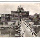 "Real Photo Postcard (RPPC) of ""Ponte e Castel S. Angelo"", Rome, Italy, 1940's"