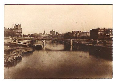 Real Photo of the Seine River, looking toward Notre-Dame in the late 1800's