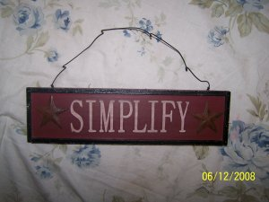 """""""SIMPLIFY"""" Country sign"""
