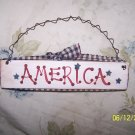 """Handcrafted """"AMERICA""""  sign"""