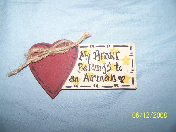 """""""MY HEART BELONGS TO AN AIRMAN' MAGNET"""