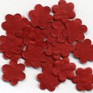20 -Red Mulberry Flower Blossoms Embellishment Card Topper