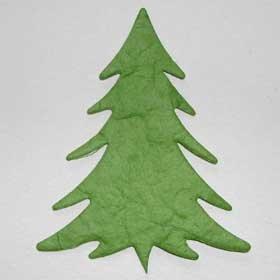 10 - Light Green Tree Mulberry Card Topper Embellishment