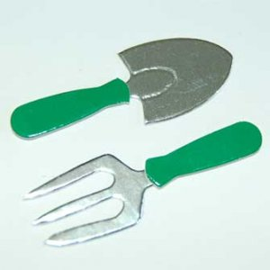 5 Fork and Spade Gardening Tool Diecut