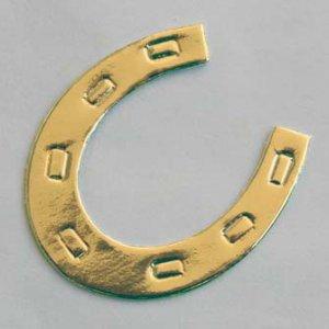 10 Gold Horseshoe Die cut Card Topper Embellishment