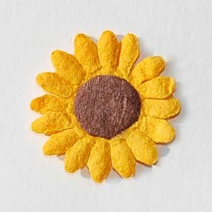 20 Yellow Sunflowers Card Topper Embellishments