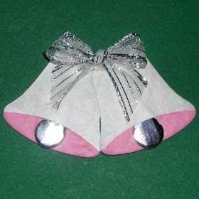 6 Wedding Bells Die cut Card Topper Embellishments