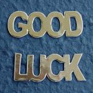 10 Gold Good Luck Die cut Card Topper Embellishment