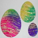 15 Batik Easter Eggs Die cut Card Topper Embellishment