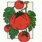 Bunch of Tomatoes Faux stained glass Window Cling Suncatcher