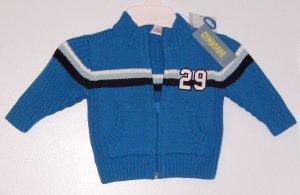 *NWT* GYMBOREE All Star champ Blue Zip sweater 6-12