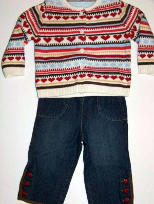 NWT GYMBOREE Mountain Cabin 2 piece Outfit 12-18M