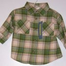 NWT GYMBOREE Tractor Company Flannel LS shirt SZ 3-6M
