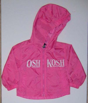 Oshkosh Pink Girls All Weather Hooded Jacket 18M EUC