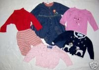Girls 7 Piece Lot 12 Months Old Navy, Hartstrings, More