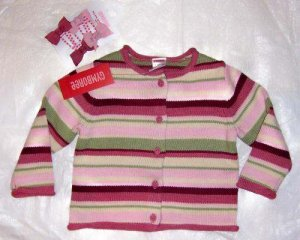 NWT GYMBOREE Girl Detective Cardigan & Clips 18-24M