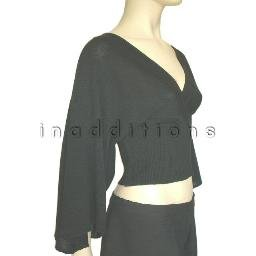 inadditions : New RAMPAGE Deep V-neck Crossover Tie Back Kimono Sweater Top Shirt Juniors Medium