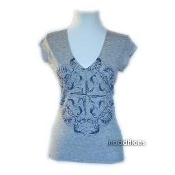 inadditions : New DONNA KARAN DKNY JEANS Nautical Tee Shirt Top Women's Extra Small X-Small