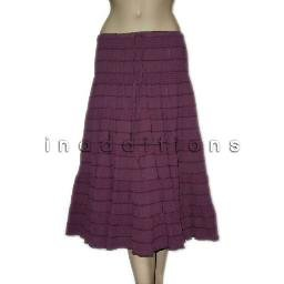 inadditions : New STUDIO M MAX STUDIO Full Crinkle Tiered Pull-On Drawstring Skirt Women's Large