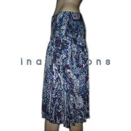 inadditions : New WDNY Modal Spandex Abstract Print Dropped Waist Pull-on Skirt Women's Large