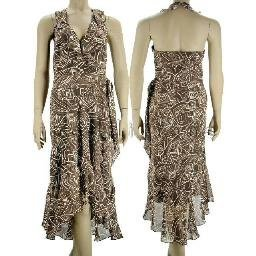 inadditions : New LIZ CLAIBORNE Sleeveless Halter Neck Faux Wrap High-Low Dress Women's 6 Small