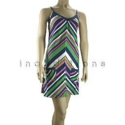 inadditions : New ROXY Ruby Multicolor Chevron-Stripe Pull-Over Jersey Dress Juniors Medium Dresses
