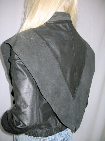 Vintage Punk New Wave Black Leather Jacket