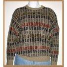 Vintage Ralph Lauren Designer Tan Pullover Crew Neck Sweater 'Hand Framed' - M/Medium