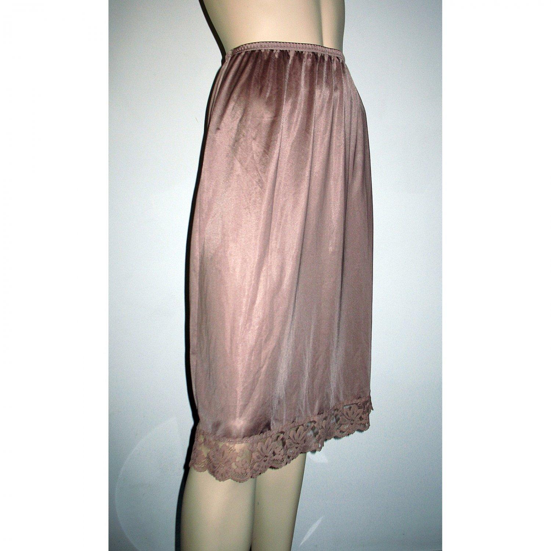 Vintage Mocha Brown Half Slip by Lorraine - Small