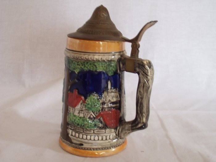 Beer Stein With Lid